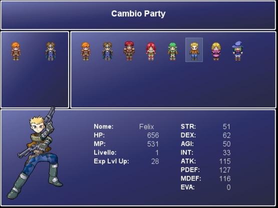 [Cambio dei personaggi nel party]